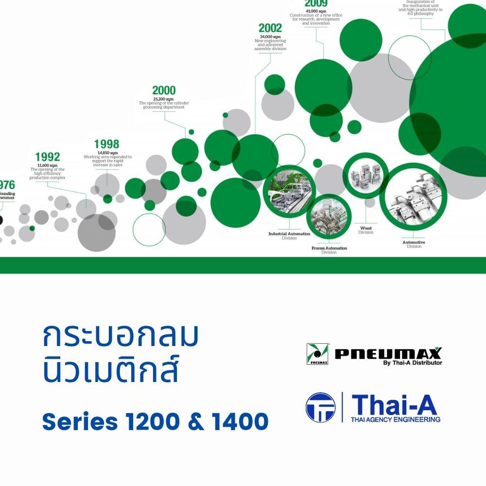 กระบอกนิวเมติกส์ Thai-A รุ่น 1200 และ 1400 series
